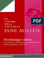 Northanger Abbey Cambridge Edition