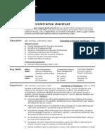 1.Admin Assistant CV Template