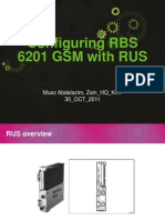 Configuring RBS 6201 GSM With RUS