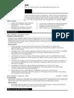 2.Database Administrator CV Template