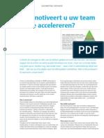 Hoe motiveert u uw team om te accelereren?