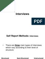 Self Report Interviews