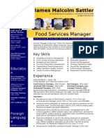 1.Hospitality CV Template