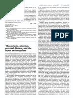 Thrombosis, abortion, cerebral disease, and the lupus anticoagulant.