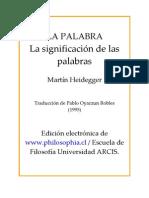 Heidegger - La Palabra