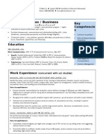 1.Entry Level Sales CV Template