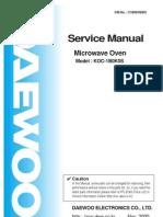 Microwave Daewoo KOC-1BOK Service Manual