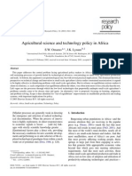 Agricultural Science and Technology Policy in Africa