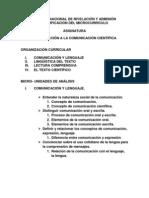PROGRAMA DE  I. C. C.