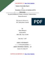 HCL Infosystems - Internship Report