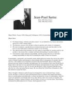 Philosopher Profiles Sartre