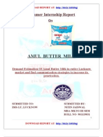 Summer Internship on Amul Butter Milk
