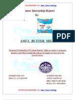 Summer Internship on Amul Butter Milk