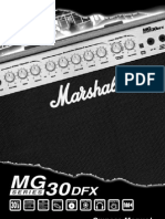 Marshall MG30DFX Owners Manual