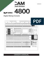 Tascam Dm-4800 Manual