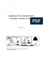 Tax Design and Its Cost Assessment
