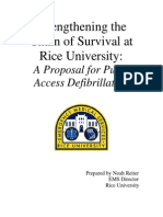 Rice University's Public Access Defib Proposal