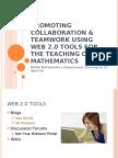 Promoting Collaboration & Teamwork Using Web 2