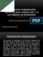 Procesos No Contenciosos Previstos en El Codigo Civil