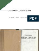 LIMBAJ ŞI COMUNICARE, LILIANA IONESCU-RUXANDOIU
