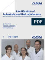 Hptlc for Identification of Botanicals and Their Adulterants