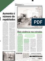 2005.08.03 - Mais violência nas estradas - Estado de Minas