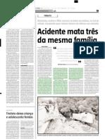 2005.09.26 - Pai e filha morreram em um acidente que envolveu quatro veículos, no km 337 da BR-381 - Estado de Minas