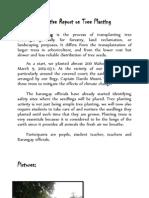 Narrative Report on Tree Planting