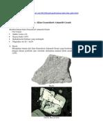 Bahan Petro 3 (Klan Granosiorit, Adamalit Granit)