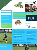 Dépliant Soccer Escabelle Dragons  année 2013 2014