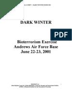 DARK WINTER - Bio-terror government excercise pre911
