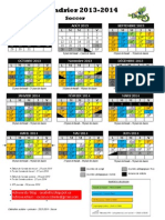 Calendrier Scolaire - Primaire - 2013-2014 - Soccer