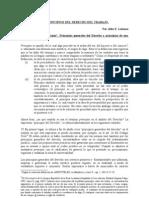 Principos Derecho Trabajo 2012