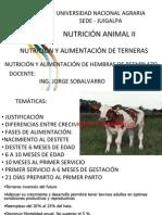 NUTRICIÓN Y ALIMENTACIÓN DE TERNERAS