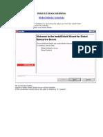 Siebel Enterprise Server Installation Screenshots