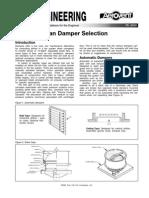 Fan Damper Selection Fe 2600