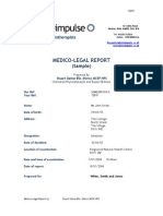 Sample Medico-Legal Report