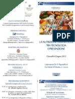 La Nutrizione Umana Oggi Tra Tecnologia e Prevenzione Laboratorio Pignatelli 6.6.2013