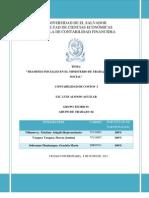 Contabilidad de Costos - Informe Del Codigo de Trabajo y Diposiciones Generales Para Registro de Empresas Comerciales en El Salvador