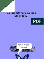 La Importancia Del Uso de La Tilde[1]