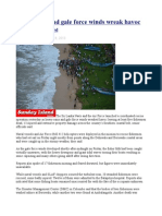 Heavy Rains and Gale Force Winds Wreak Havoc