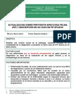 ACTUALIZACIÓN SOBRE PERITONITIS INFECCIOSA FELINA  (PIF)