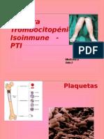 Purpura trombocitopenica isoinmune en pediatria