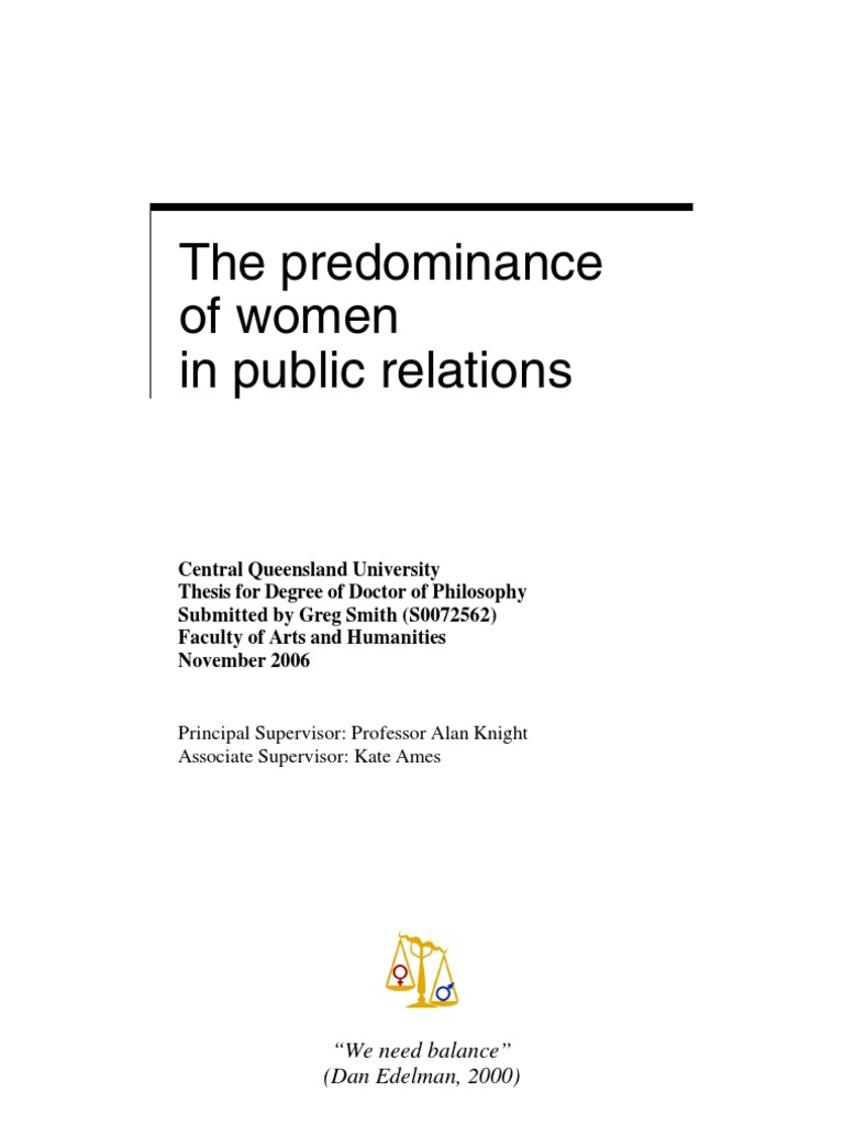 Public Relations PhD Thesis (PUBRL) : Catalogue of Papers