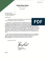 Letter from Senator Harry Reid to Pace Lattin