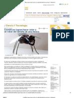 Científicos logran hacer volar a un robot del tamaño de una mosca - Globovision