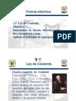 1.2 Ley de Coulomb