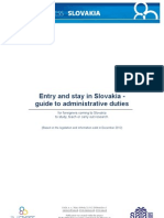 Entry and stay in Slovakia -