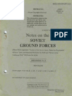 Notes on the Soviet Ground Forces