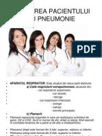 Ingrijirea Pacientului Cu Pneumonie